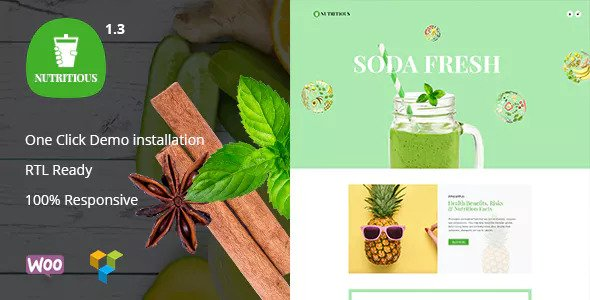 Nutritious v1.3 — Organic food Drink WooCommerce Theme