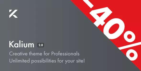 Kalium v2.8 — Creative Theme for Professionals