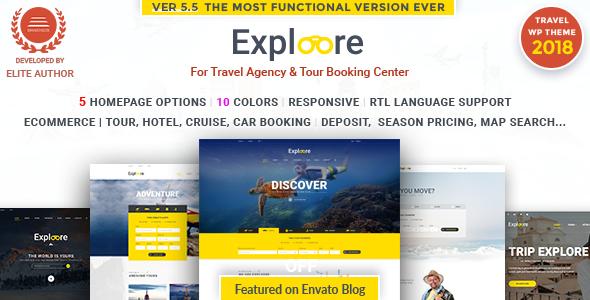EXPLOORE v5.6 — Tour Booking Travel WordPress Theme