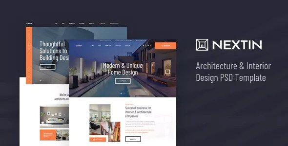 Nextin — Architecture & Interior Design PSD Template