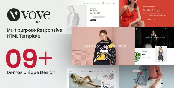 Voye — Multi Layout Fashion eCommerce HTML Template