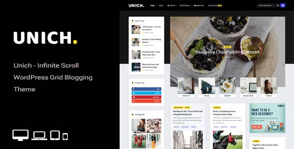 Unich v1.2 — Infinite Scroll Blogging Food Recipes