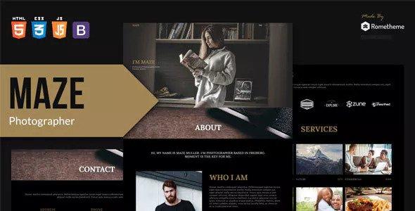 MAZE — Photography Portfolio HTML Template