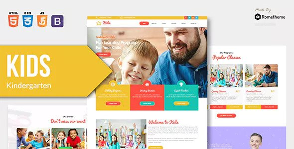 KIDS — Kindergarten and Child Care HTML Template