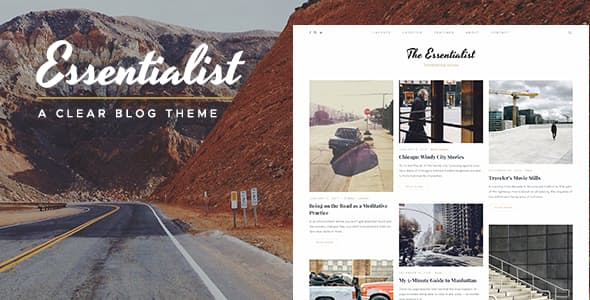 Essentialist v1.2 — A Narrative WordPress Blog Theme