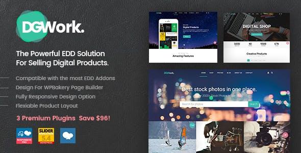 DGWork v1.6 — Powerful Responsive Easy Digital Downloads Theme