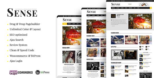 Sense v5.0 — Responsive Blog Magazine & News Theme