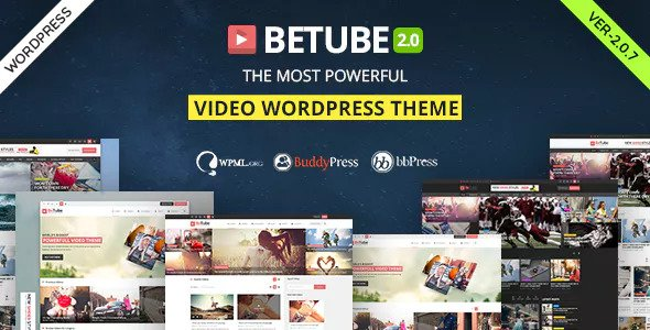 Betube v2.0.7 — Video WordPress Theme