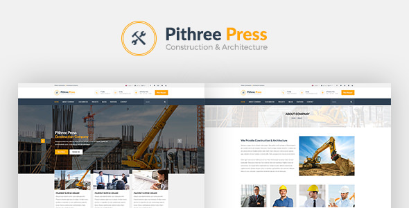 Pithree v1.7 — Construction & Building WordPress Theme