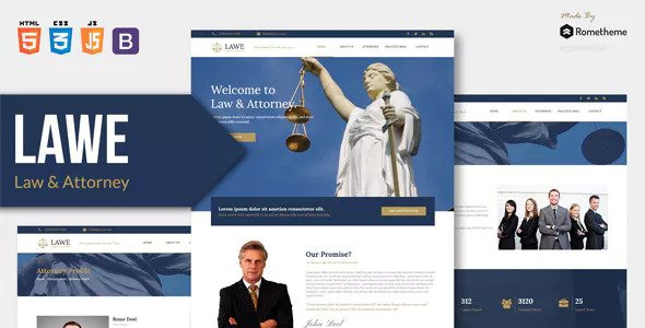 LAWE v1.0 — Lawyer and Attorney HTML Template