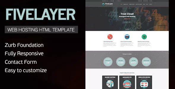 FiveLayer — Web Hosting, Responsive HTML Template