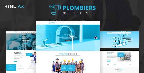 Plombiers — Plumber, Repair Services HTML Template