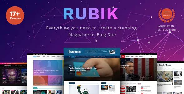 Rubik v1.2 — A Perfect Theme for Blog Magazine Website