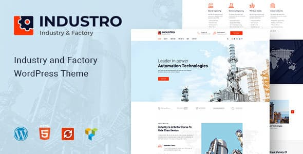 Industro v1.0.3 — Industry & Factory WordPress Theme