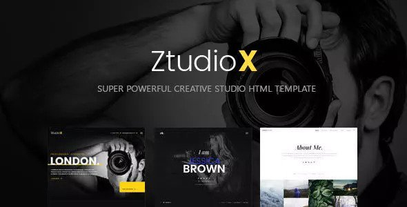 Ztudio X — Creative Studio Photography HTML Template
