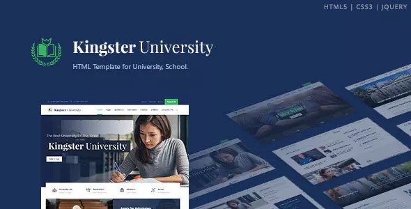 Kingster v1.0 — Education HTML Template