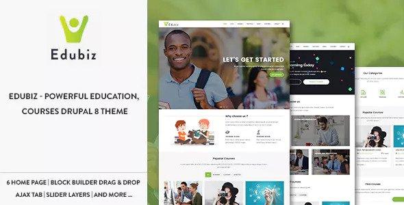 Edubiz — Powerful Education, Courses Drupal 8.6 Theme
