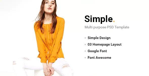 Simple — PSD Template