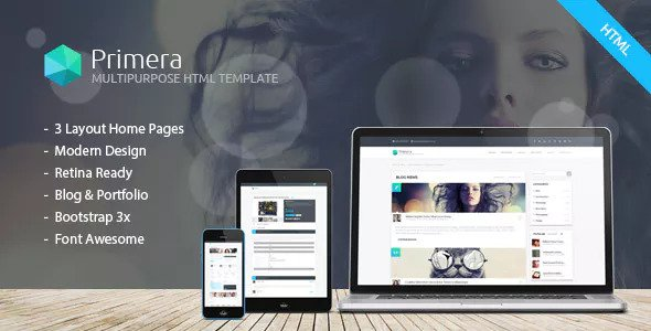 Primera — Business Multipurpose Responsive HTML5 Template