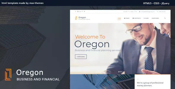 Oregon — Finance HTML Template