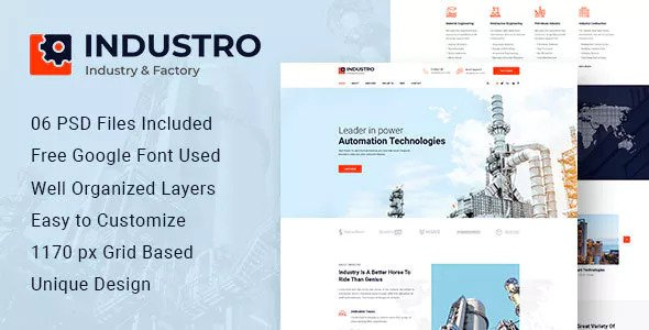 Industro — Industrial PSD Template