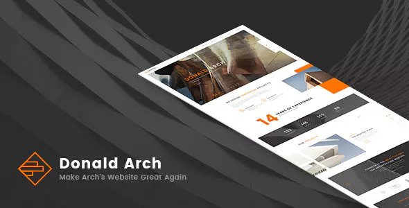 Donald Arch — Responsive Architecture HTML5 Template