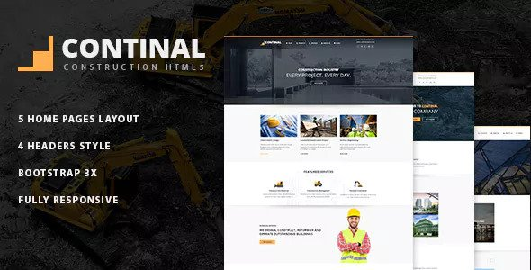 Continal — Construction Business HTML5 Template