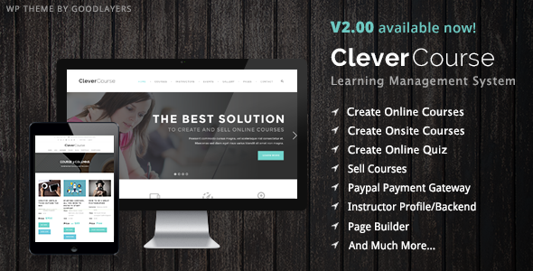 Clever Course v2.11 — Learning Management System Theme
