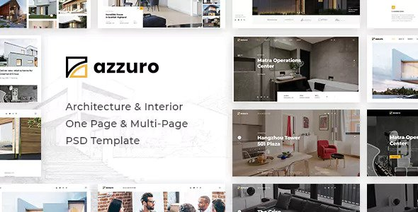 Azzuro — Architecture & Interior PSD Template