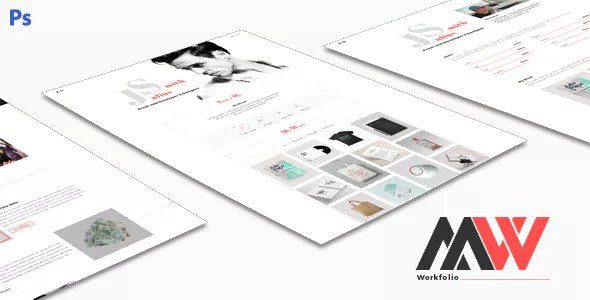 Workfolio — Personal Portfolio PSD Template