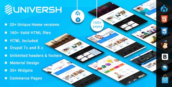 Universh — MultiPurpose Drupal 7 — 8.x Theme