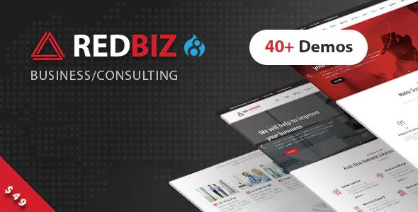 RedBiz — Business & Consulting Multi-Purpose Drupal 8 Theme