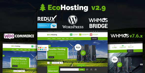 EcoHosting v2.9 — Responsive Hosting and WHMCS Theme