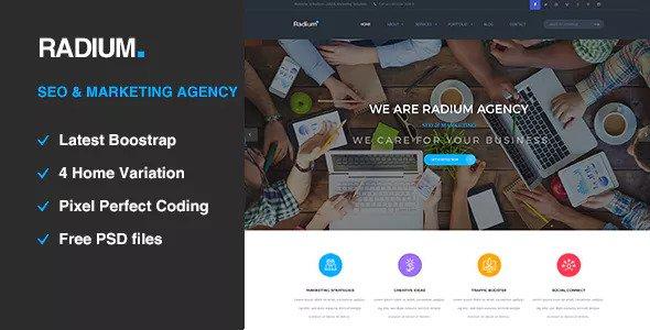 Radium — SEO /Digital Agency HTML5 Template