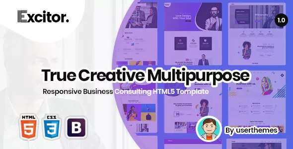 Excitor — Responsive Business Consulting HTML5 Template