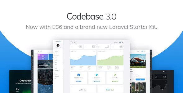 Codebase v3.0 — Bootstrap 4 Admin Dashboard Template & Laravel Starter Kit