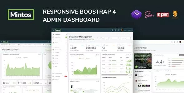 Mintos — Responsive Bootstrap 4 Admin Dashboard Template