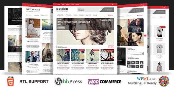 Newsright v1.3.4 — WordPress Premium HD News & Magazine