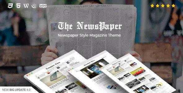 NewsPaper v4.0 — News & Magazine WordPress Theme