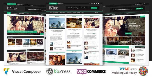 Bzine v2.0 — WordPress Premium HD Magazine