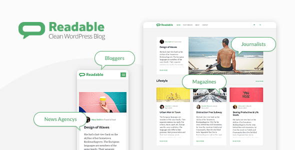Readable v2.3.1 — Blogging Theme Focused on Readability