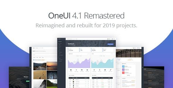 OneUI v4.1 — Bootstrap 4 Admin Dashboard Template & Laravel Starter Kit