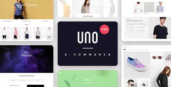 UNO — A Multipurpose Shop PSD Template