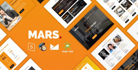 Mars Email — Responsive Email Template with MailChimp Editor, StampReady & Online Builder