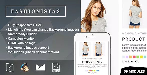 Fashion & Ecommerce — Responsive Email with Mailchimp Editor & StampReady Builder