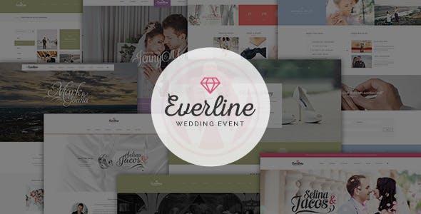 Everline v1.0 — Wedding Events HTML Template