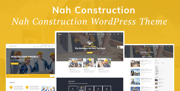 Nah v1.1.2 — Construction, Building Business Theme