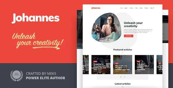 Johannes v1.1 — Multi-concept Personal Blog & Magazine