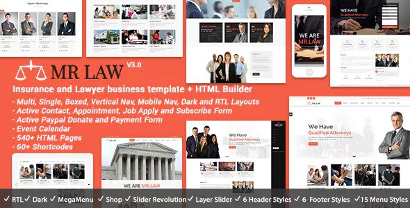 Mr Law v3.0 — Lawyer Attorney and Law Firm