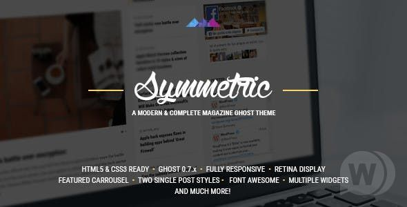 Symmetric v5.5.0 — A Magazine Theme for Ghost